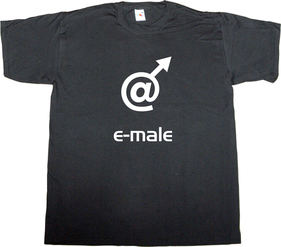 male female fun mail internet t-shirt ephemeral-t-shirts