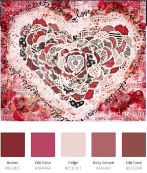 Creative Embellishments Monthly Challenge - moodboard+añadir encaje