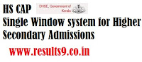 Kerala HSCAP Plus One Supply Allotment Results 2013