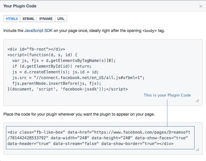 Social Plugin Code