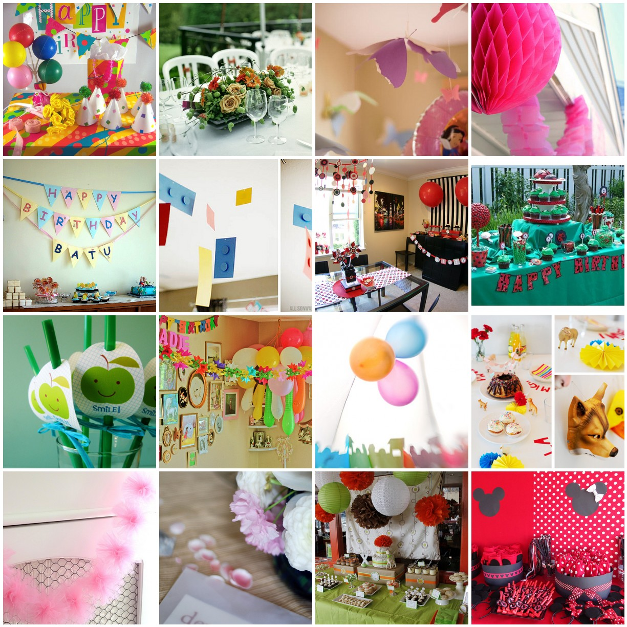 Decoration party party favors ideas for Home decorations for birthday