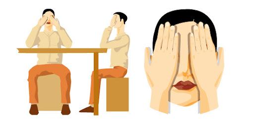 Палминг - релаксация на очите