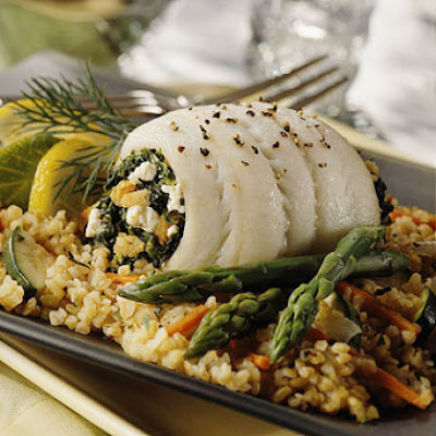 Spinach-Stuffed Sole Recipy