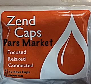 Zend Brand Kava Caps Made by Exprience Inc at Pars Market in Columbia Maryland 21045