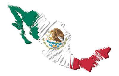 Mapa de México con Bandera Mexicana - Símbolos Patrios - 16 de Septiembre - Día de la Independencia