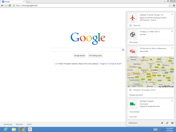 Google Now for Almost All Desktop Chrome Users