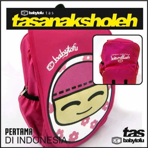 tas anak sholeh pink tas sekolah