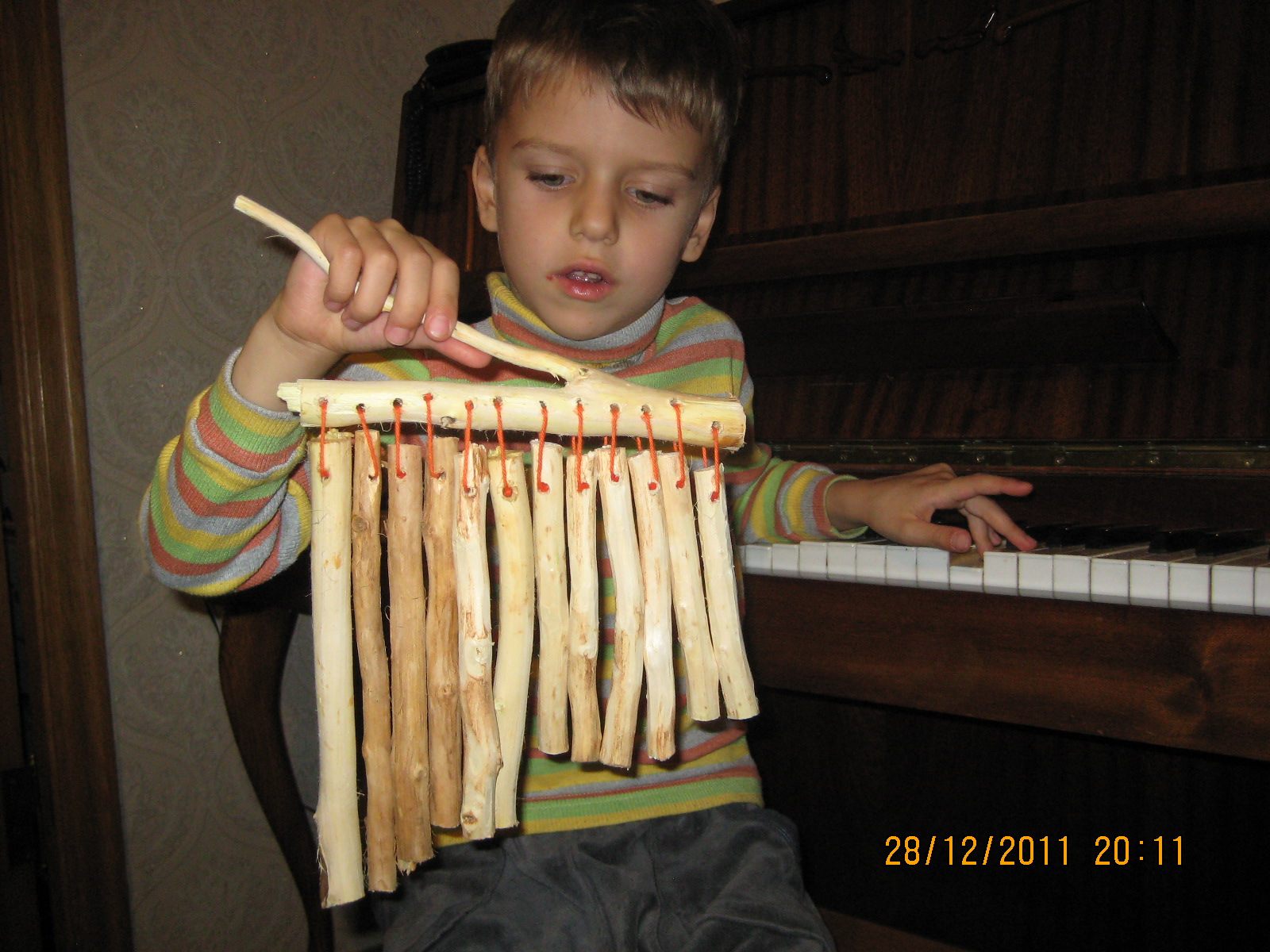 Музыка ветра — поделки из дерева с детьми | Два ребенка …