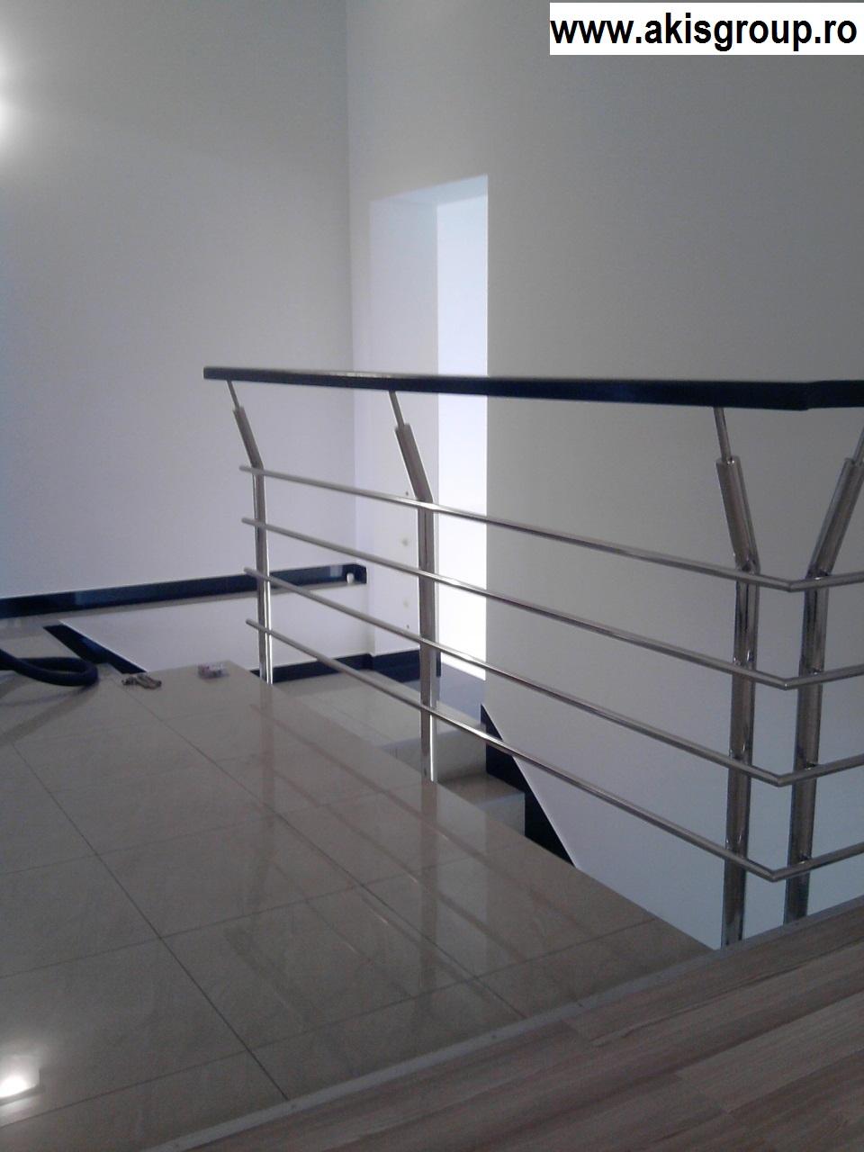 balustrade cu sticla balustrade inox de interior. Black Bedroom Furniture Sets. Home Design Ideas