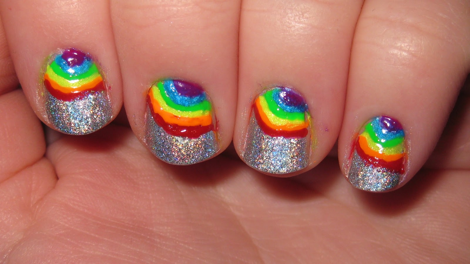 High Definition Wallpaper Club Rainbow Nail Art