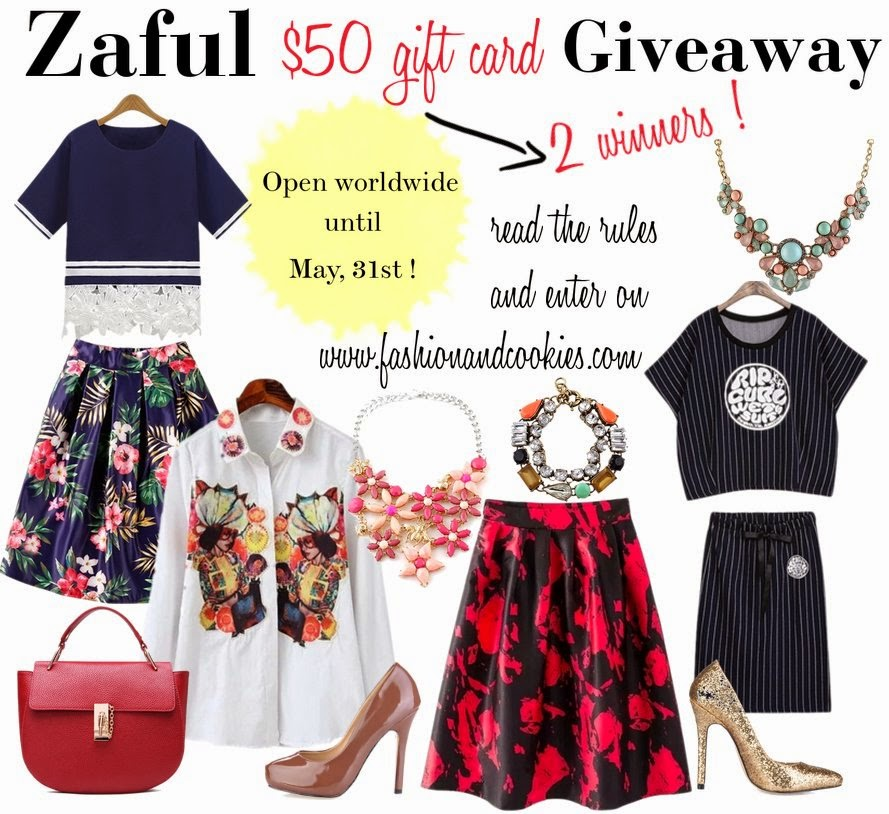 Zaful giveaway, $50 gift card on Zaful, two winners, fashion blog, fashion blogger, Zaful.com, Zaful