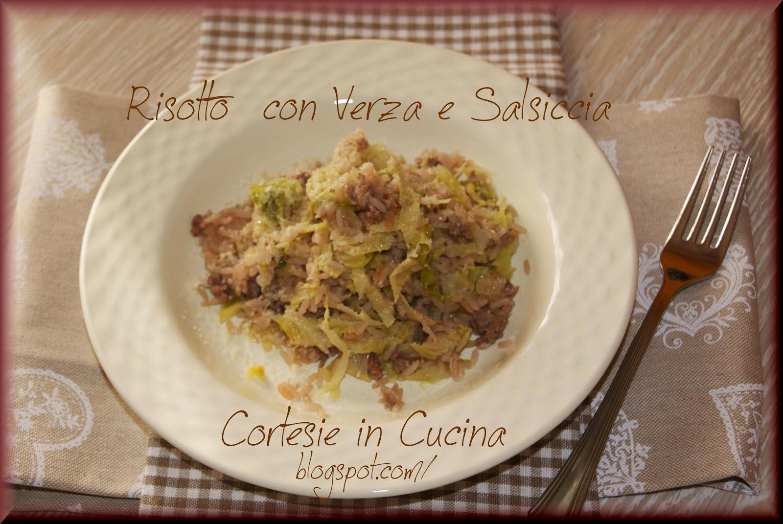 risotto con verza e salsiccia