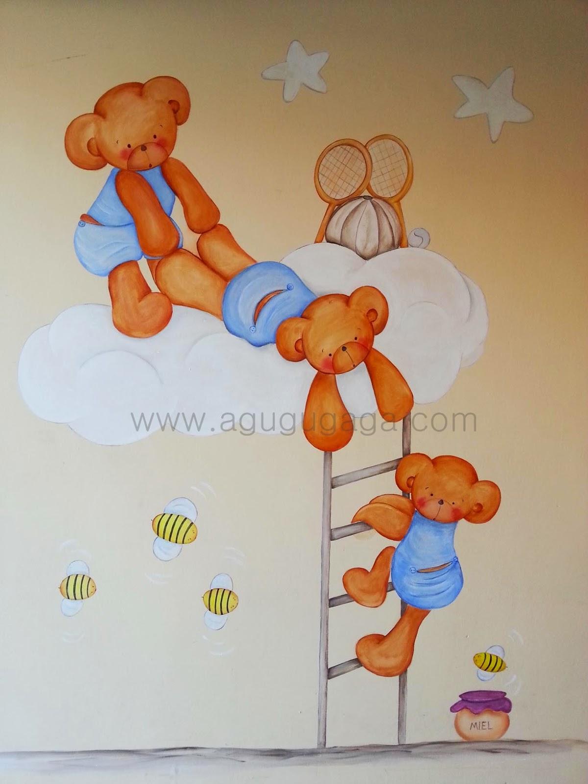 Decoraci n infantil siluetas de madera cuadros y murales - Murales infantiles pintados a mano ...