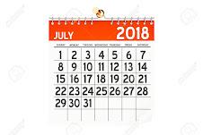 CALENDÁRIO DA VELOCIDADE  JULHO 2018