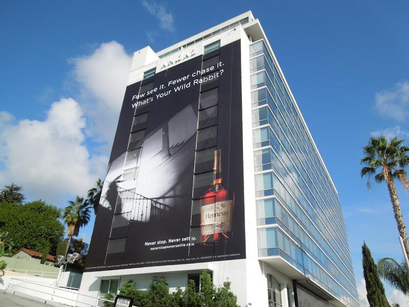 Giant Hennessey Wild Rabbit billboard Andaz Hotel