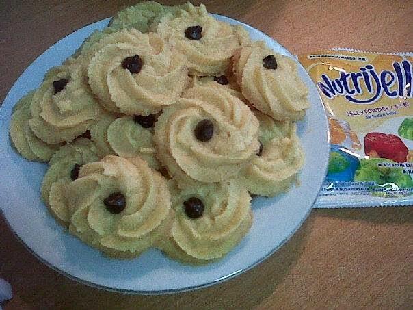 Resep Cara Membuat NUtrijell Cookies Biskuit Renyah Enak
