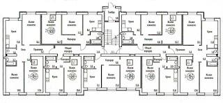Планировка квартир в доме № 66