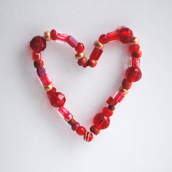 bead valentine card