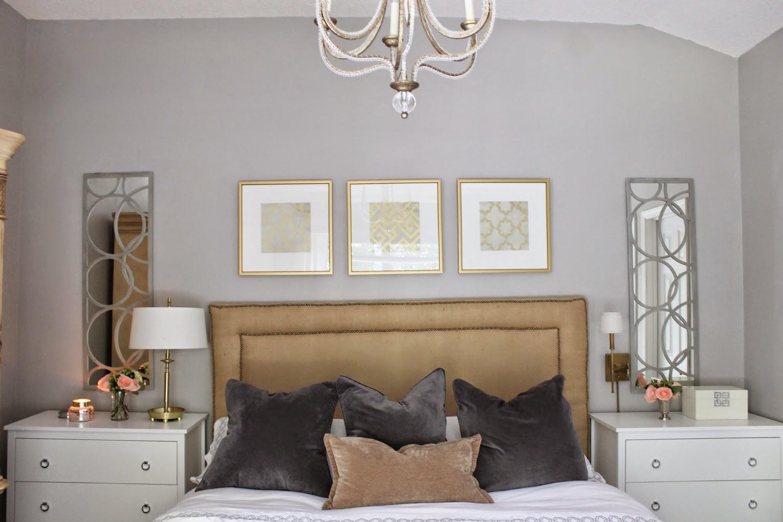Diamonds burlap home tour master bedroom for Ikea minde mirror