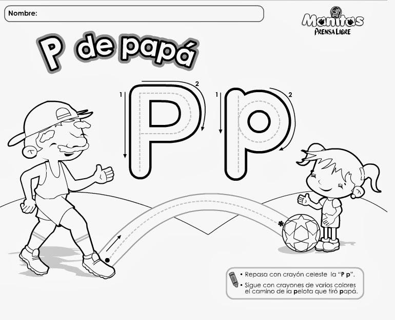 Vistoso Letra O Para Colorear Jardín De Infantes Patrón - Páginas ...