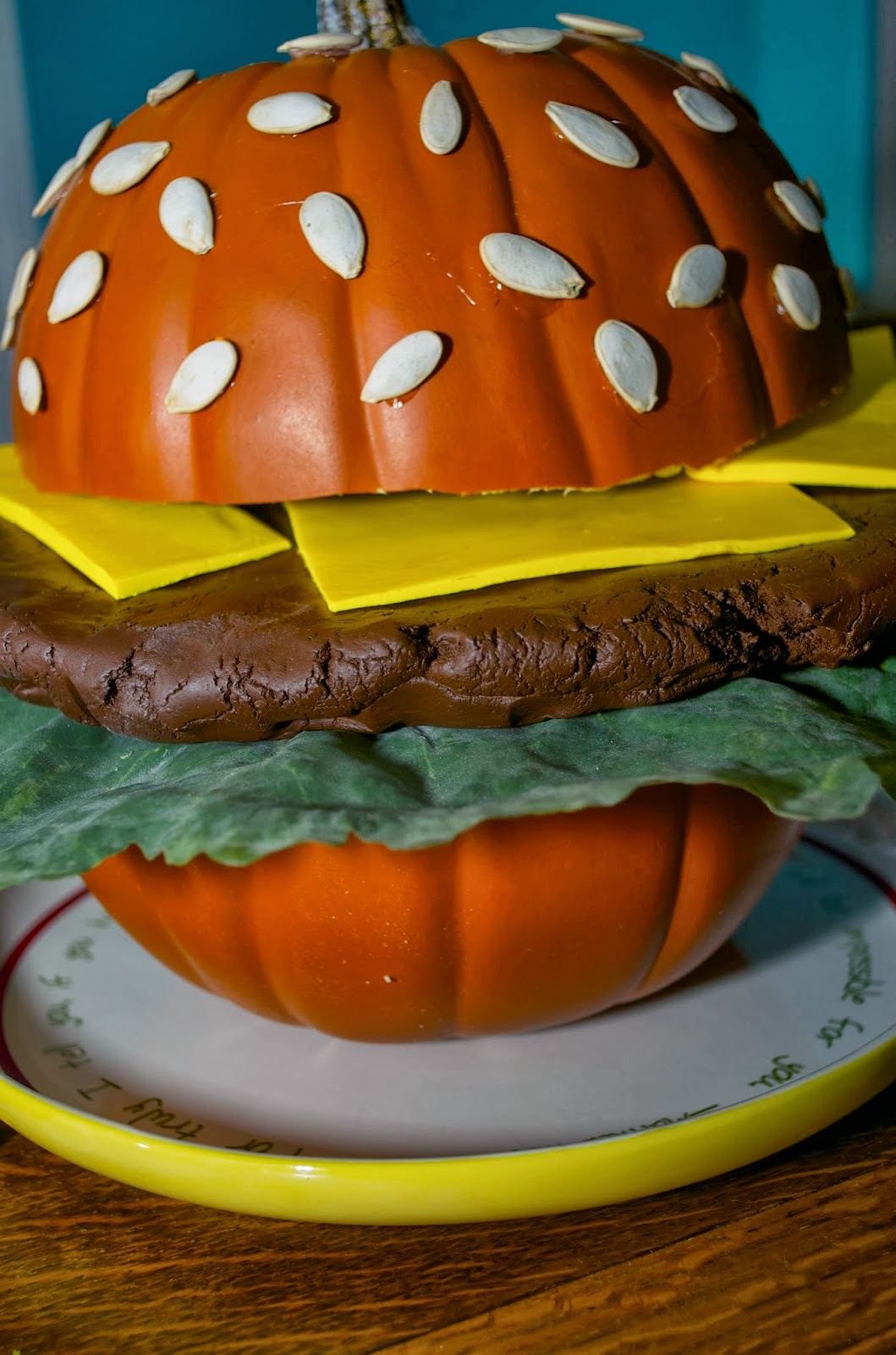 Crazy cozads pumpkin decorating cheeseburger for A pumpkin decoration