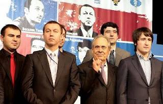 Echecs à Kazan : 5 des 8 candidats © Chess-News