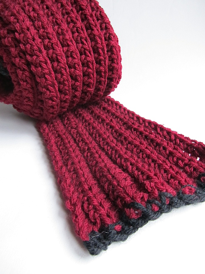 Free Crochet Pattern For Chunky Scarf : {Crochet Chunky Scarf-Free Pattern} - Little Things Blogged