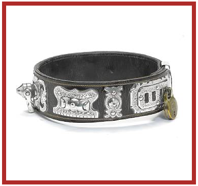 Victorian antique dog collar