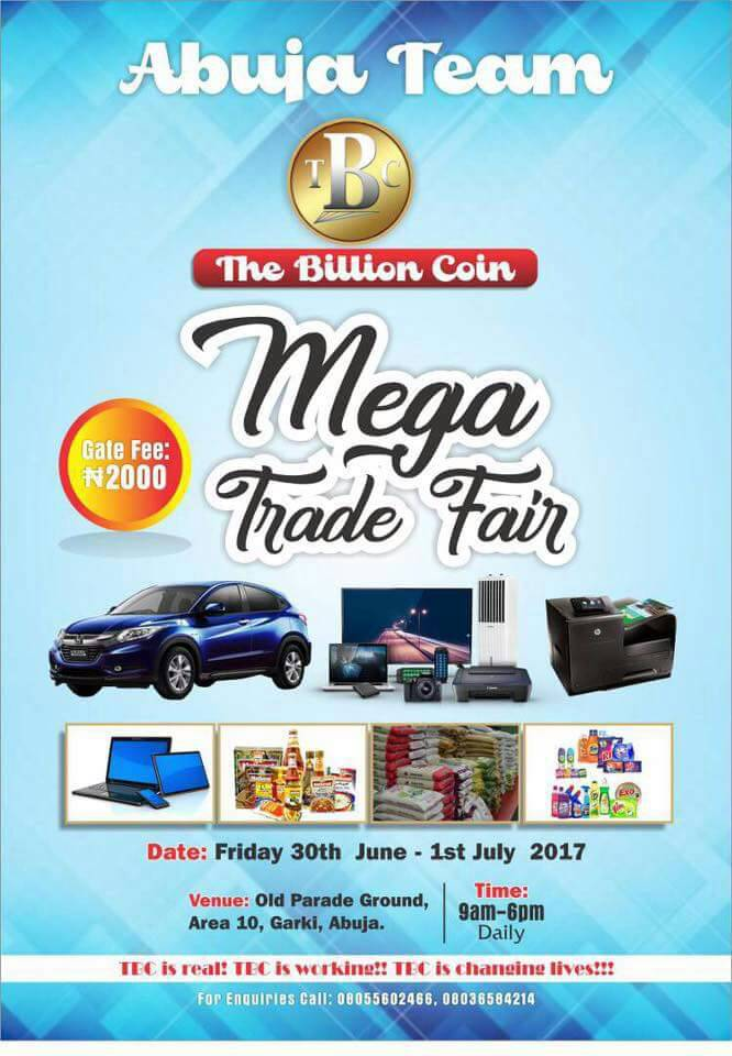 ABUJA TBC MEGA TRADE FAIR