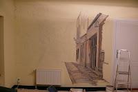 Artystyczne malowanie ściany w gabinecie stomatologicznym, Toruń