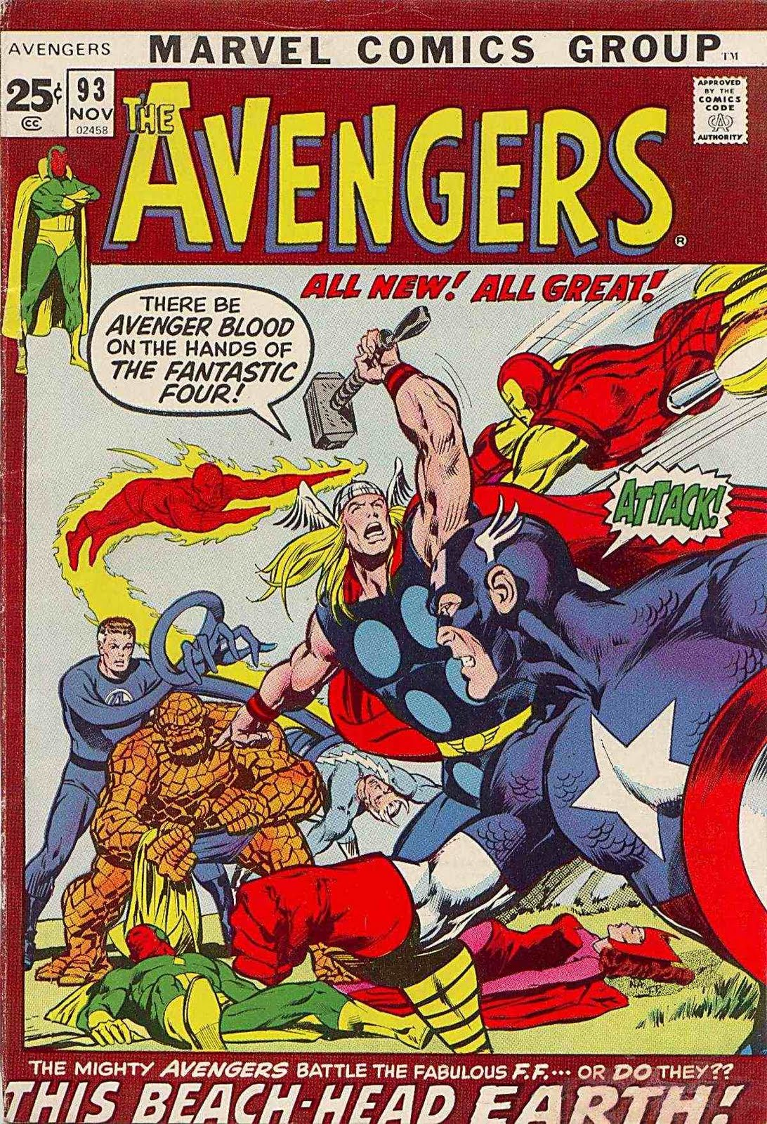 "The Warrior's Comic Book Den: The Avengers #93: ""This Beachhead Earth"""