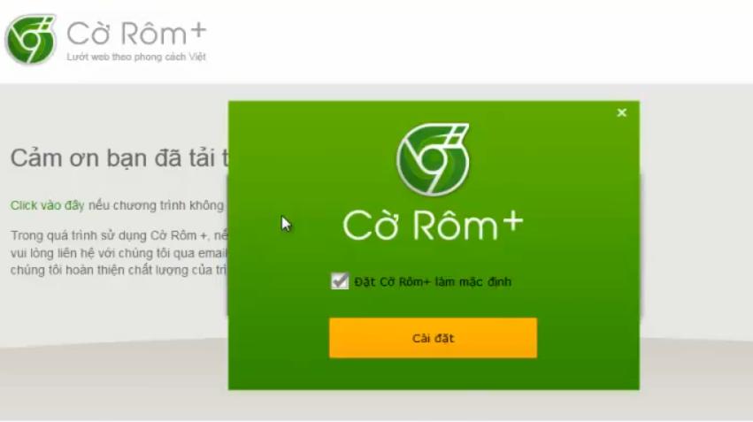 Download trnh duyệt Cờ Rm cộng Tiếng Vaiệt mới nhất
