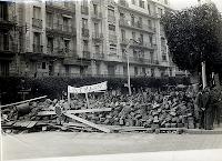 Barricada en las calles de Argel