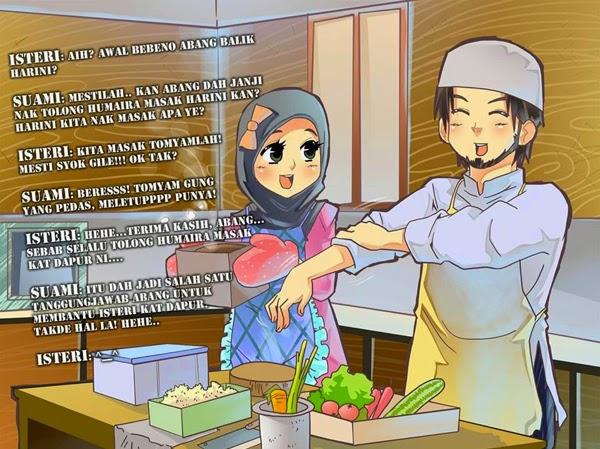 Berbahagialah Isteri andai dapat suami yang suka membantu
