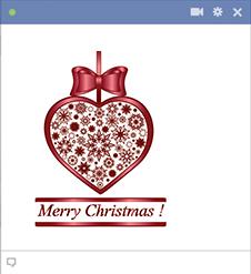 Maroon Christmas Heart