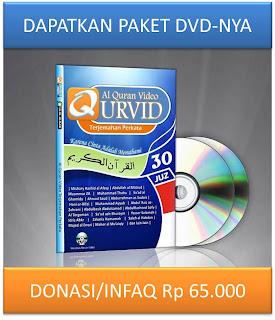 DAPATKAN PAKET DVD QURVID - DONASI/INFAQ Rp 50.000