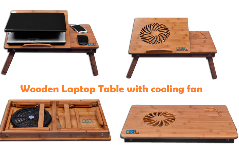 Best Wooden Laptop Table with cooling fan - Top 10 Best in India 2015