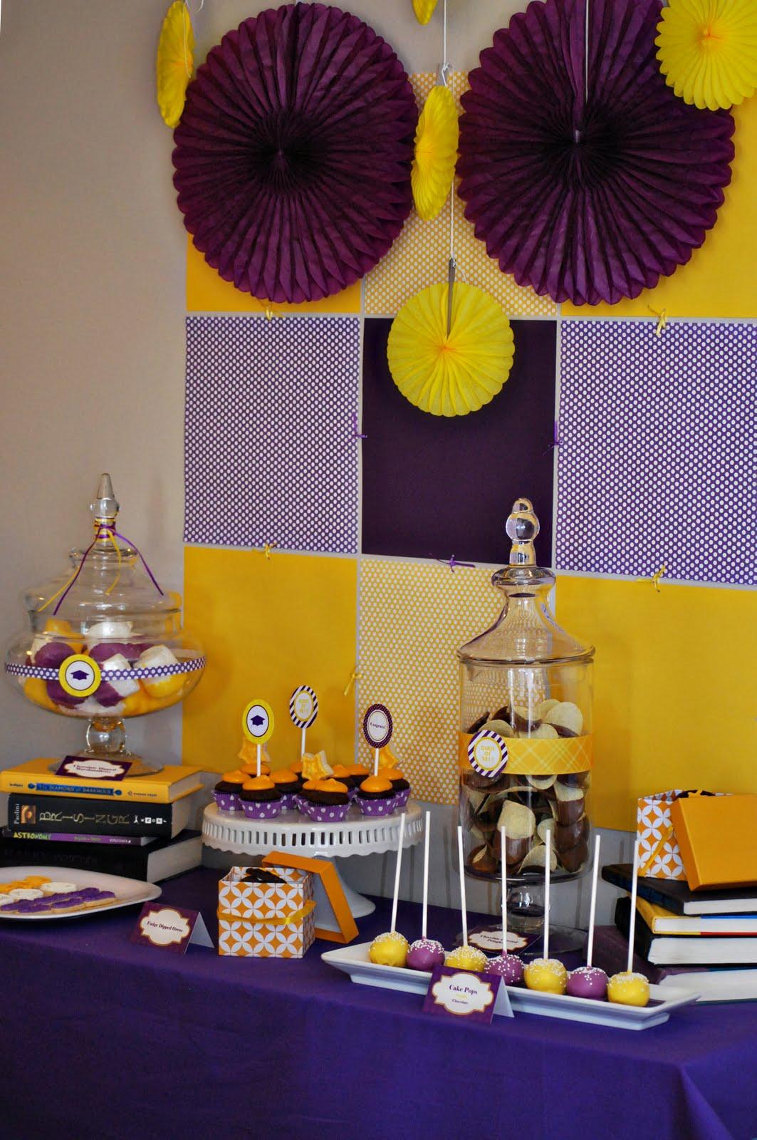 desserts designs 5th grade graduation party purple and gold. Black Bedroom Furniture Sets. Home Design Ideas