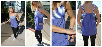 lululemon back on track tank blue
