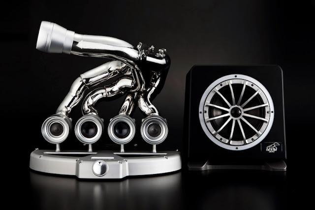 F1マシンのマニホールドを使用したサウンドシステム「iXOOST(エキゾースト)」