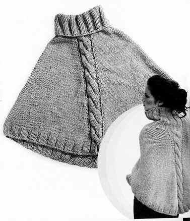 Croche madona m a puntos y graficos poncho tejido en dos - Como hacer punto de lana para principiantes ...