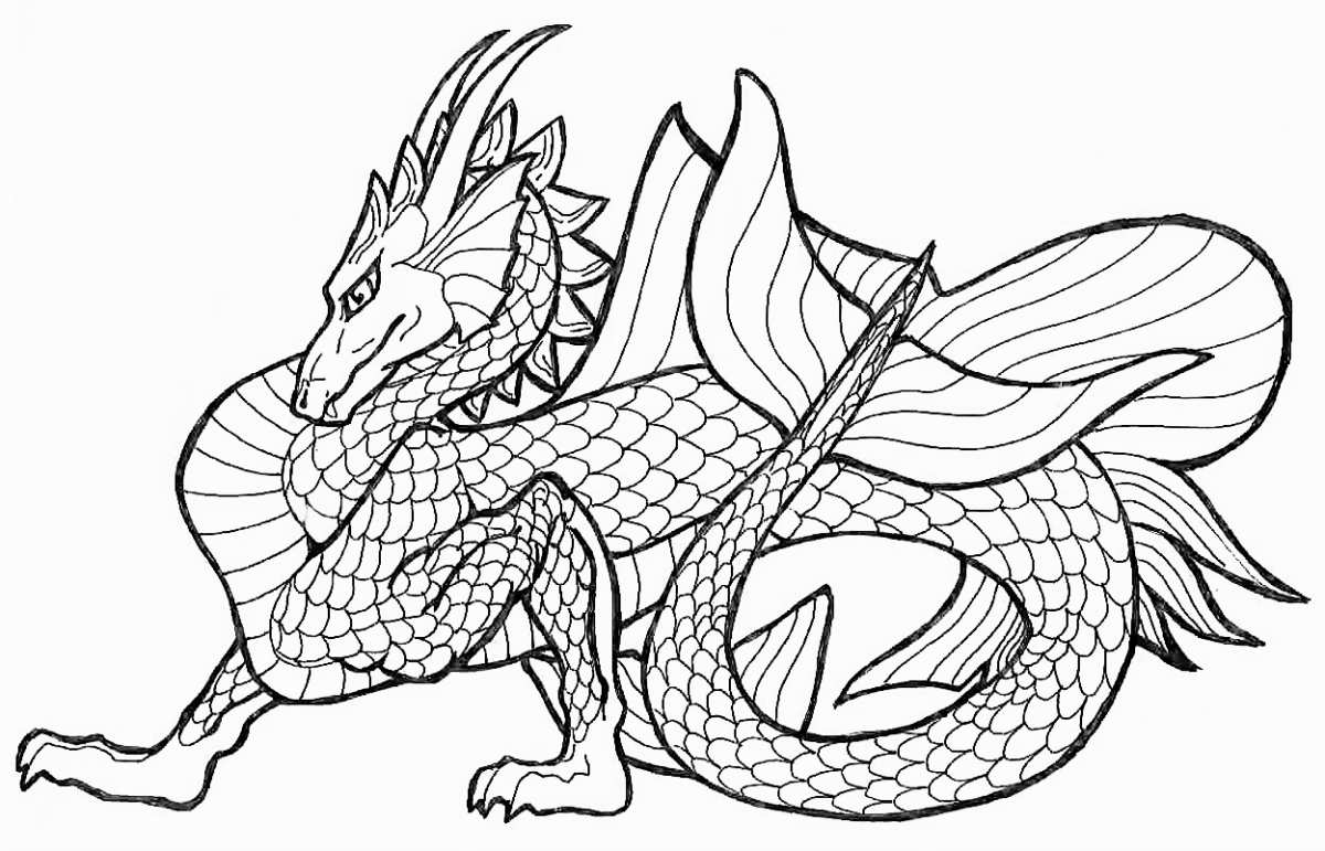Coloring Pages Dragon Coloring