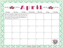 Printable Calendar For April 2015