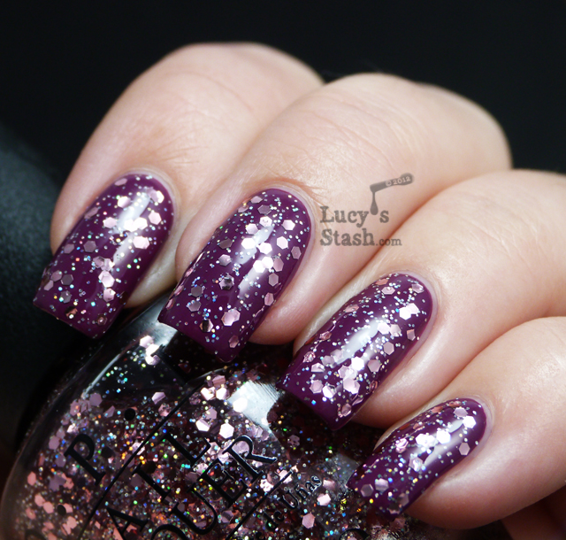 Lucy's Stash - OPI Pink Yet Lavender over Anti-bleak