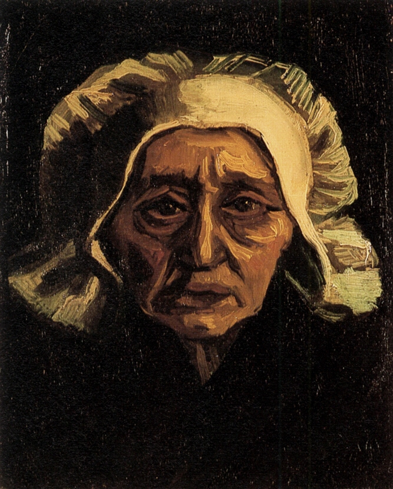 Head of an Old Peasant Woman with White Cap (F 75, JH 550) by Vincent van Gogh