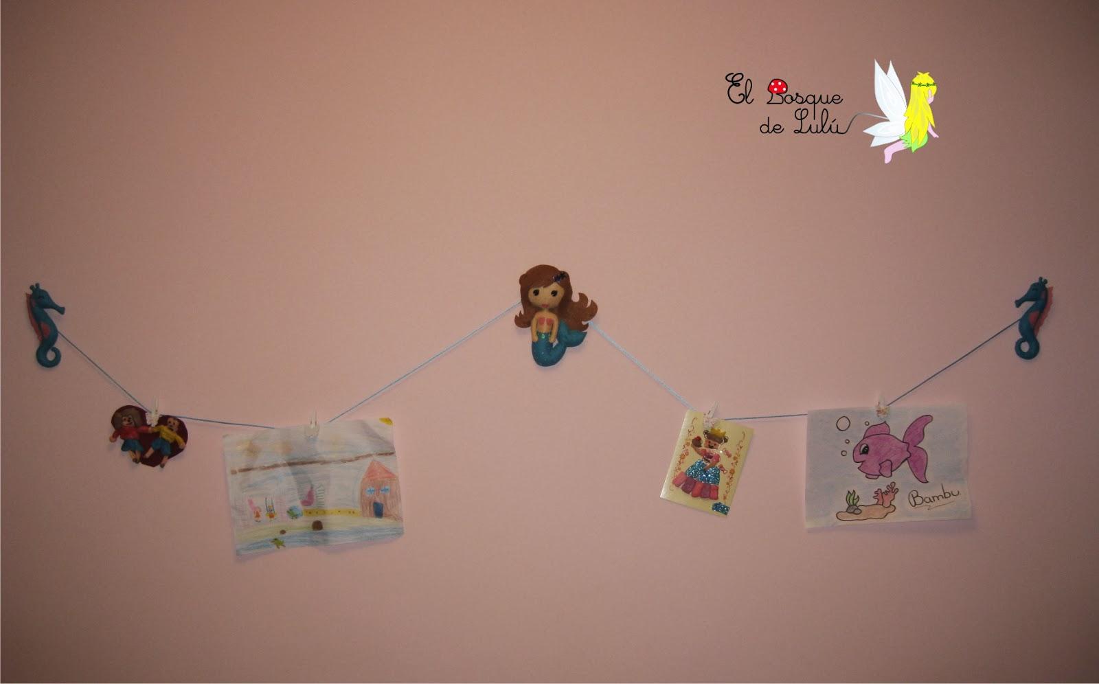 decoración-infantil-fieltro-colgador-tendedero-dibujos