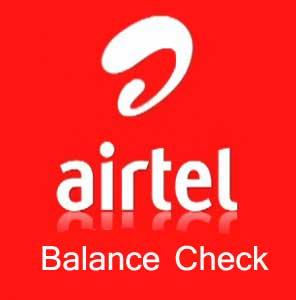 Airtel balance check codes