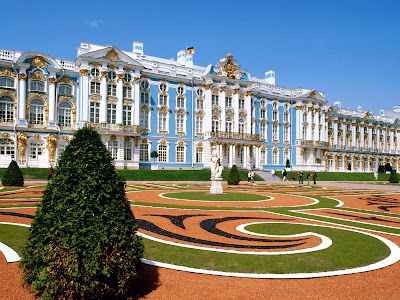 St Petesburg Catherine Palace Russia HD Desktop Wallpaper