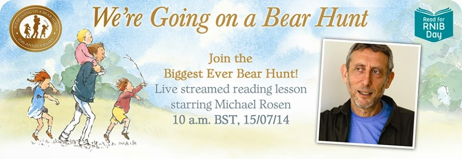 Click the banner to watch Michael Rosen LIVE