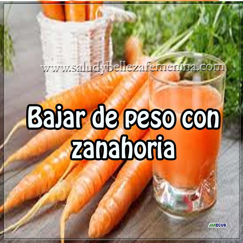 Dietas y nutrición,  receta para bajar peso,  receta  para adelgazar, receta quema grasa,  zanahoria